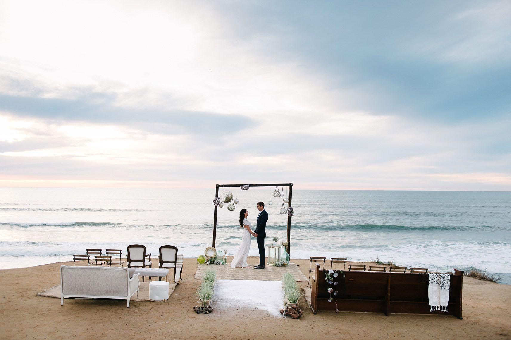Seaside Wedding Inspiration San Diego Sunset Cliffs California Beach Wedding Wedding Inspiration Shoot Seaside Wedding