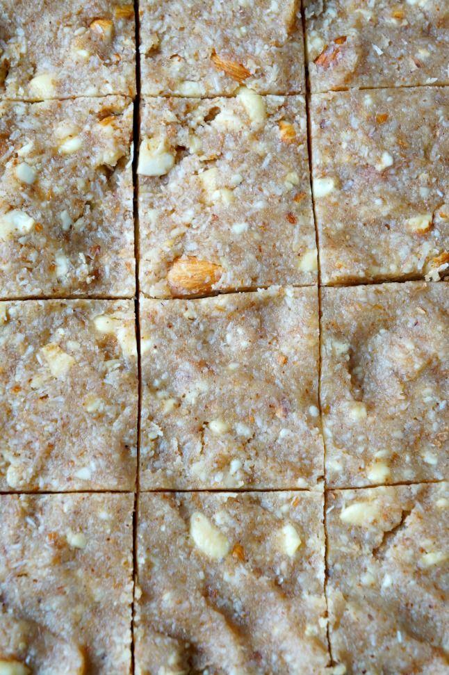 Honey Coconut Almond Bars | tomatoboots.co | #vegetarian #chewy