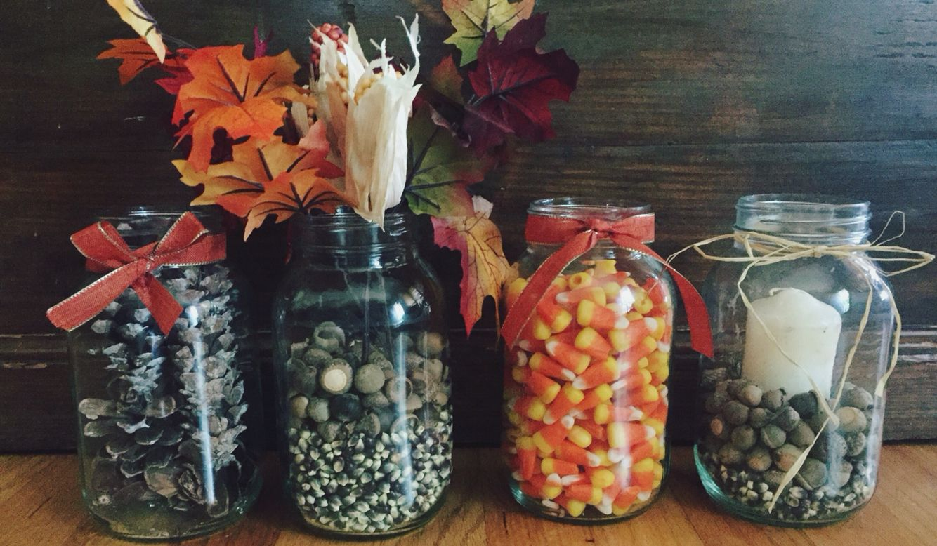 been mason some fall filled jars