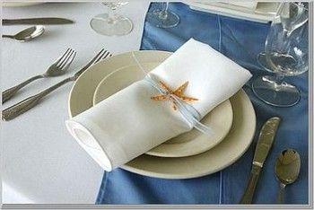 Decoration Rond De Serviette Table Pour Mariage Theme Mer