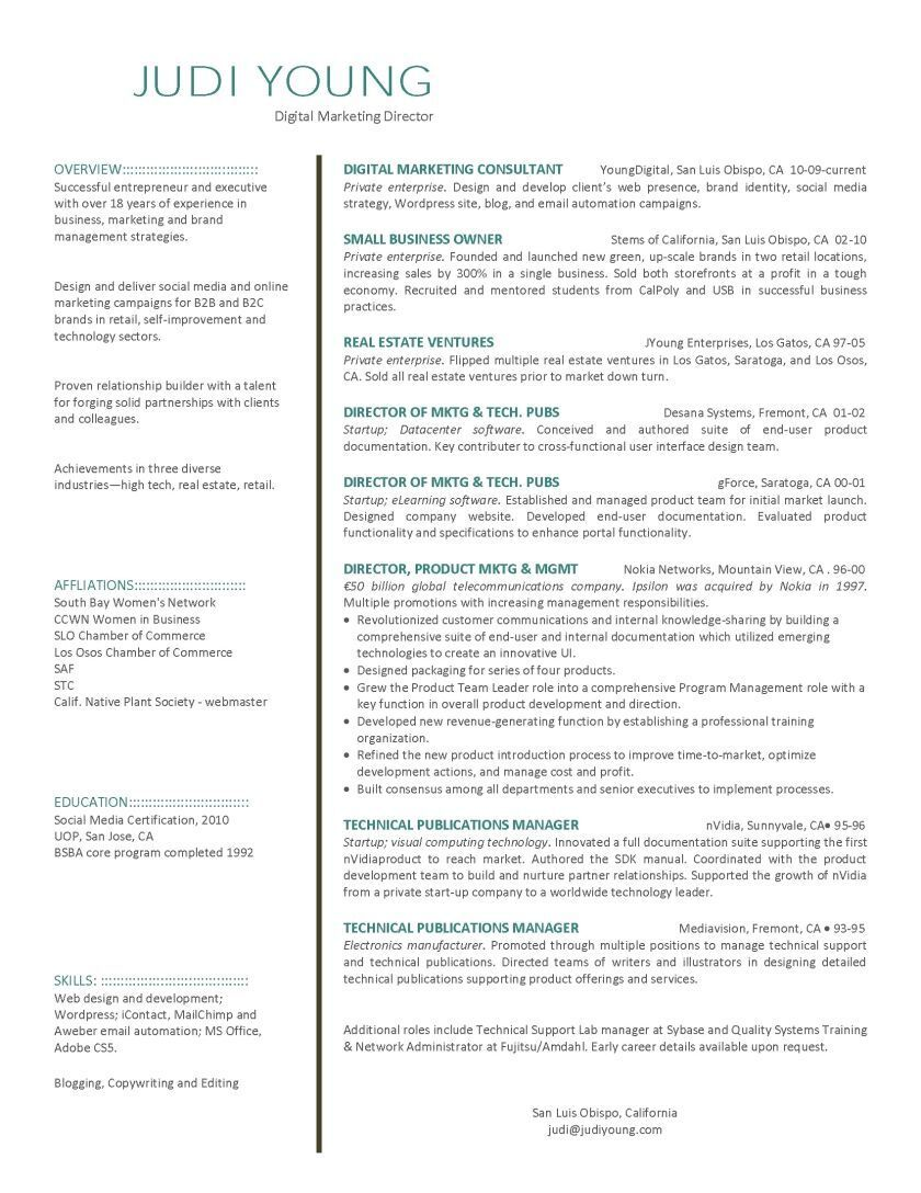 Client Services Manager Resume Fresh Digital Marketing