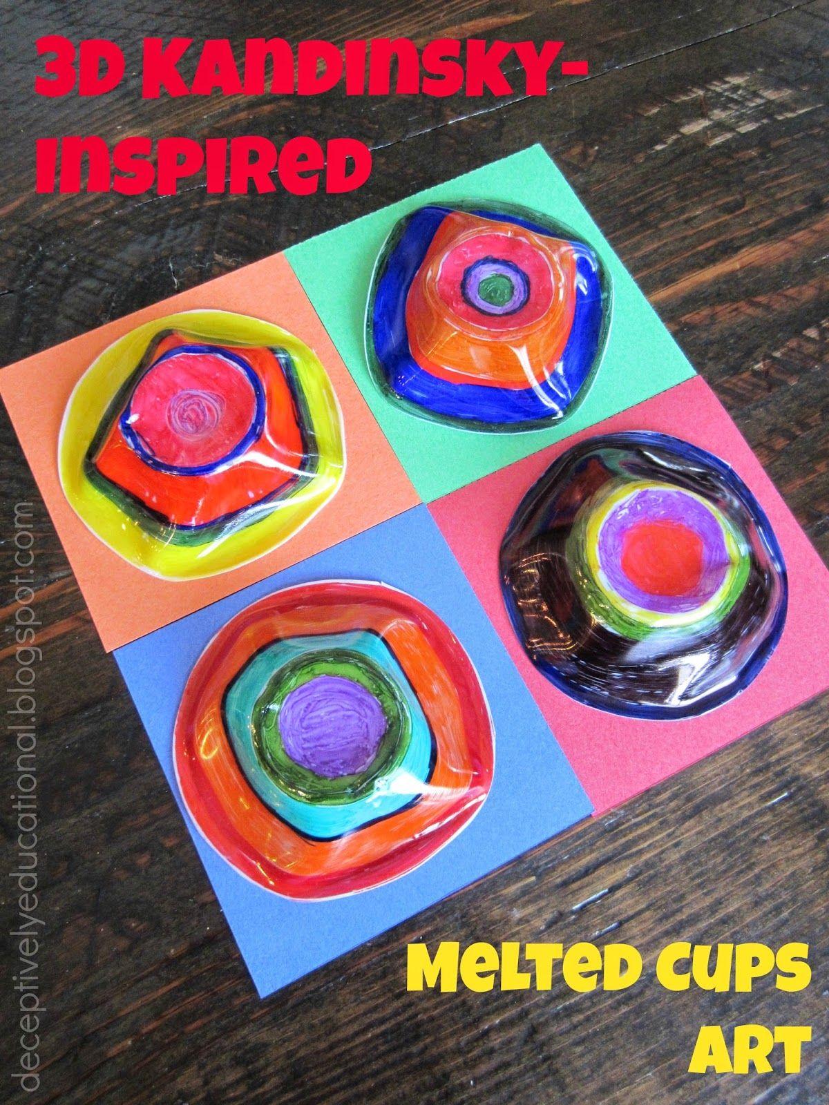 3d Kandinsky Inspired Melted Cups Art