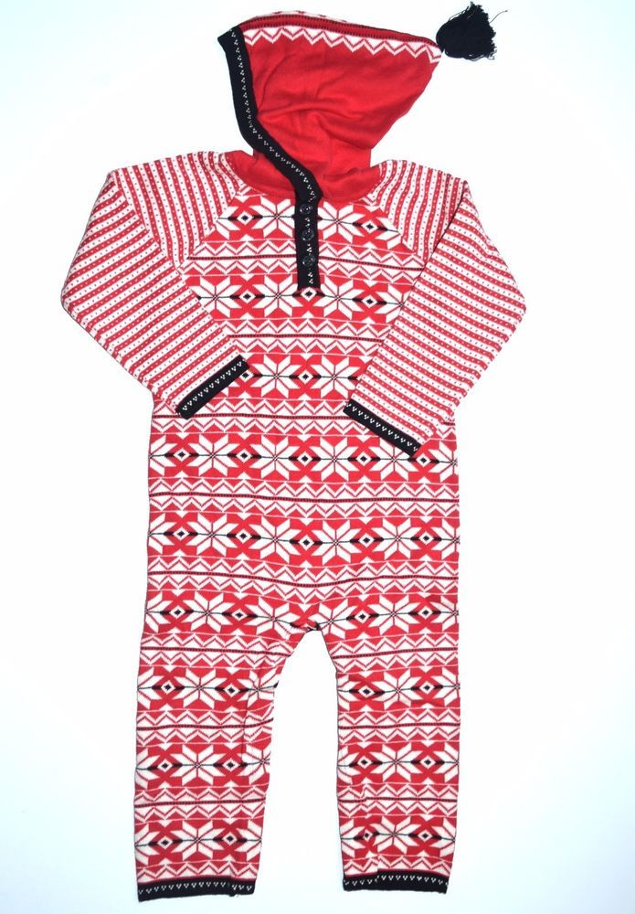 Hanna Andersson 90 2 3 Let it Snö Hoodie Sweater Romper Holiday ...