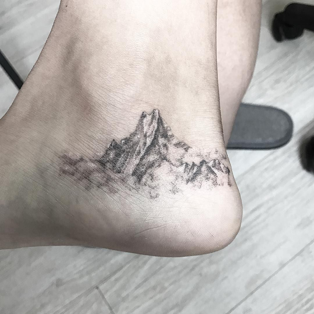 Mountain Landscape Tattoo Simple Nepal Tattoo Tattoos Tattoo Artists