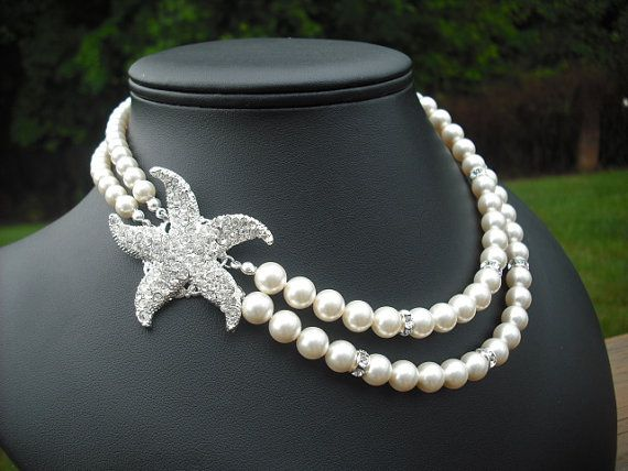 Bridal necklace bridesmaid necklace STARFISH Version 3 Beach