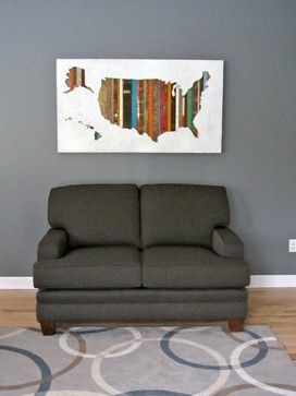 American Souvenir USA Map Art By Dolan Geiman   Eclectic   Products    Chicago   Dolan