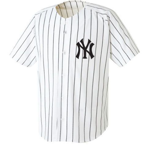 Newyork NY Yankees Baseball Stripe Open Tshirts Sports Wear Jersey Shirt  TOP  23d12a623