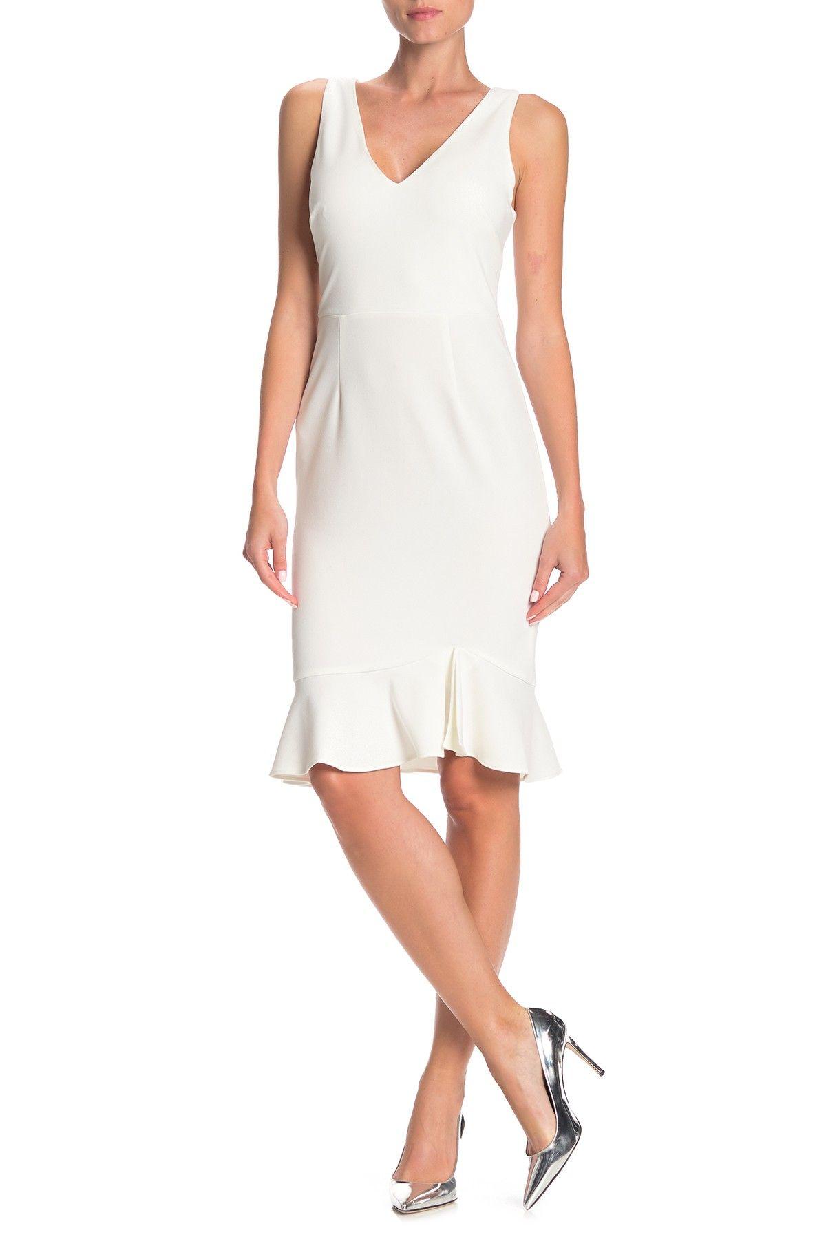 Betsey Johnson Ruffled Scuba Crepe Dress Nordstrom Rack Classy Knee Length Dress Nordstrom Dresses Crepe Dress [ 1800 x 1200 Pixel ]
