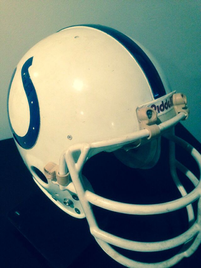 a3652cee Baltimore Colts Herb Orvis 1978-1981 Game Worn Helmet | Man Cave ...