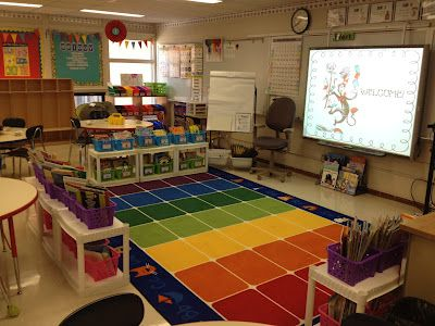 The Techy Teacher Carpet Area Library And Smartboard
