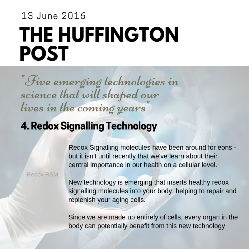 Redox Signalling Technology Is One Of The 5 Emerging
