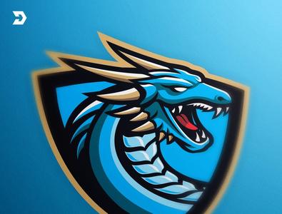 Search Designs On Dribbble Blue Dragon Art Logo Mascot Design
