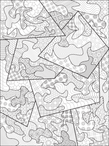 Abstract Zentangle Dibujo para colorear | zentangle | Pinterest ...