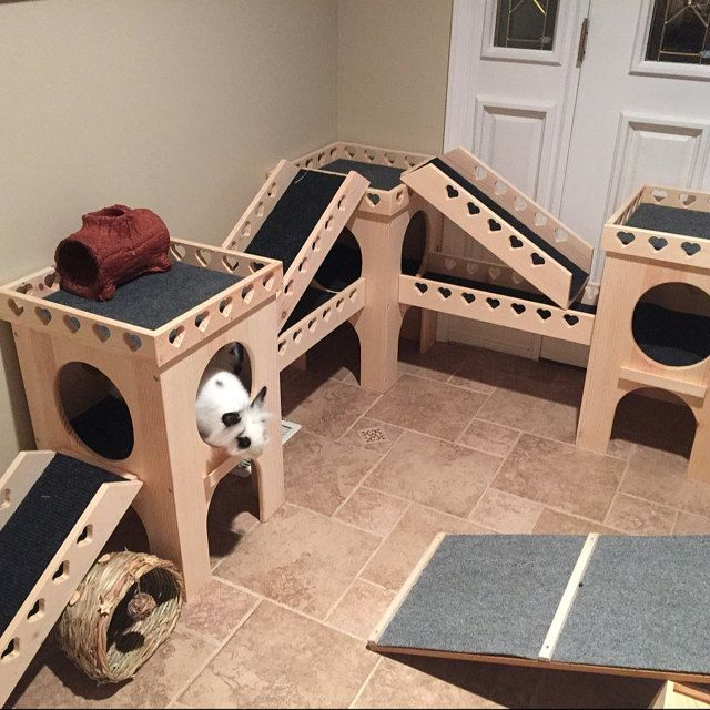 From Bunsbedsandbeyond On Etsy Custom Play Houses And Furniture For Your Small Pets Bunny Room Bunny Cages Bunny House