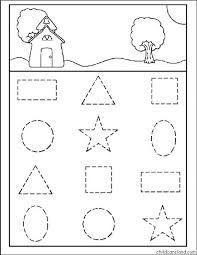letters overtrekken kleuters zoeken les formes