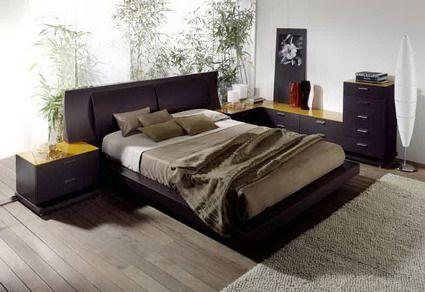 Decoración de un dormitorio moderno con combinación de colores ...