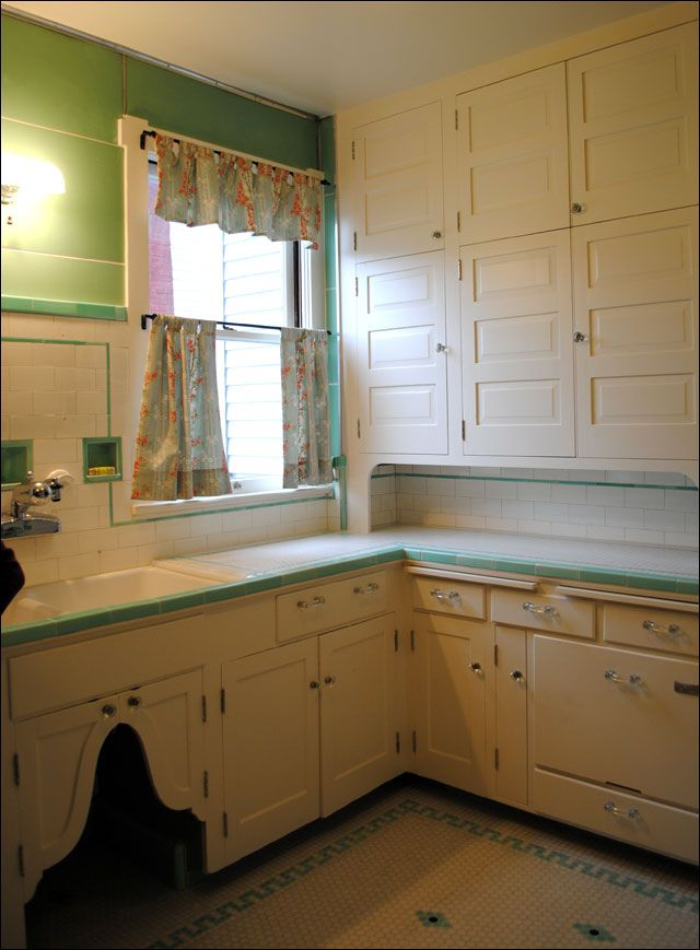 1930s kitchen intact remodel | 1930s kitchen, 1930s and drawers