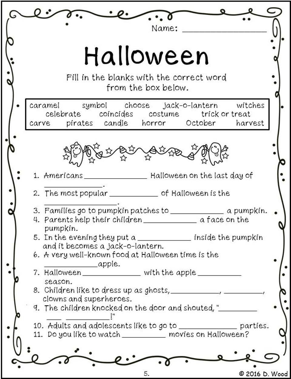 Halloween reading comprehension vocabulary grammar puzzles halloween reading comprehension vocabulary grammar puzzles biocorpaavc Gallery