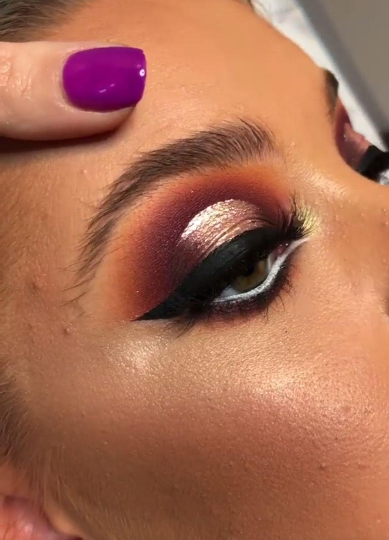 Warm Tone Eye look Spotlight Eye Halo Eye Black