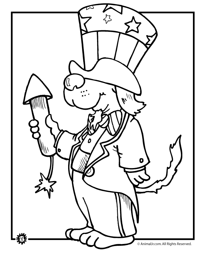 Uncle Sam Dog 4th Of July Coloring Page Woo Jr Kids Activities Summer Coloring Pages Fourth Of July Crafts For Kids Coloring Pages