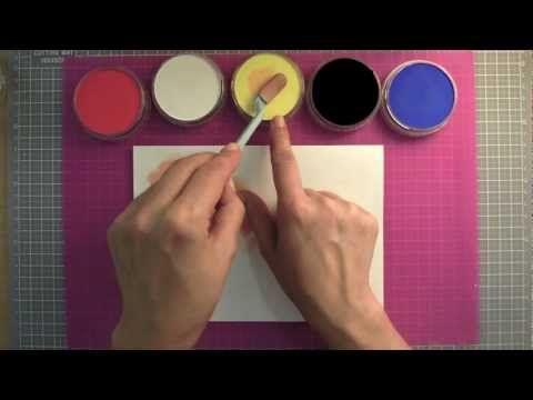 Como utilizar los Pan Pastel: Pagina de art journal. Tutorial scrapbook y manualidades - YouTube