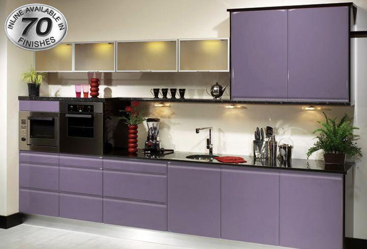 KBBC InLine Plum - shiny purple kitchen   Kitchen Design Ideas ...