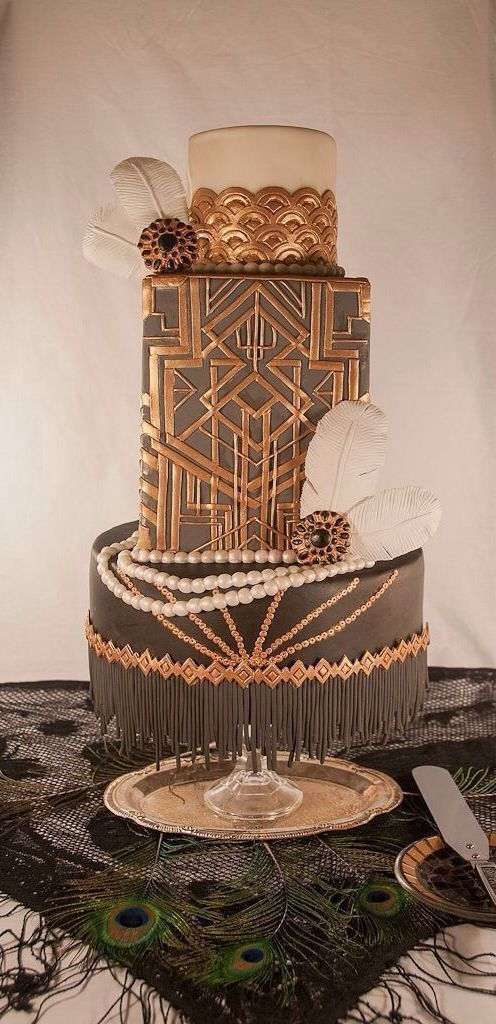 wedding cake mariage d exception theme gatsby annees folles 20 art deco carnet d 39 inspiration. Black Bedroom Furniture Sets. Home Design Ideas