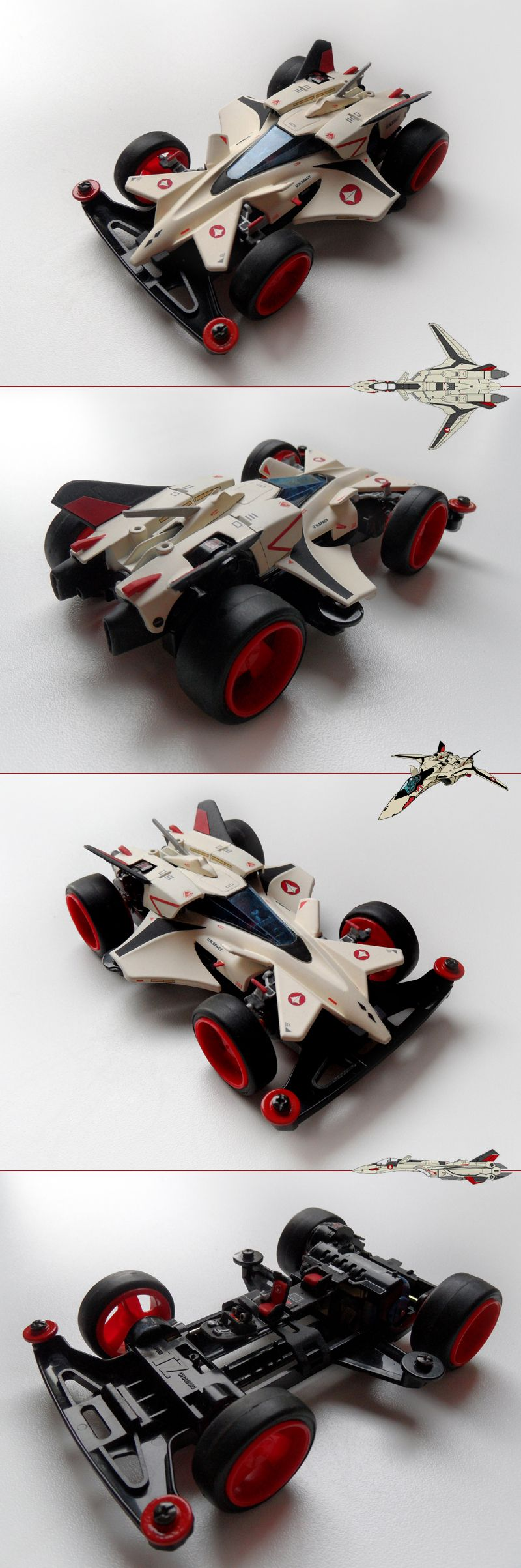 Rayhawk Gamma restored and restyled by Aran (YF-19 version)   Mini 4WD   #Mini4WD   #Tamiya   #Macross   #Robotech   #Valkyrie   #Varitech