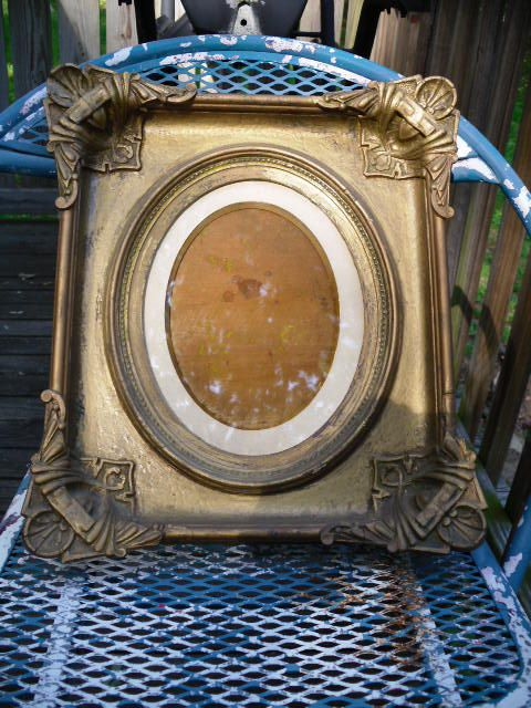 Antique Gold Gesso Frame Early 1900's