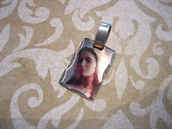Vintage Sterling Silver Hologram Mother Mary by charmingellie, $15.00