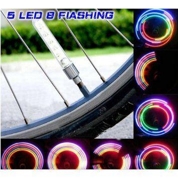Flashing 7 LED Bicycle Motorcycle Bike Tire Tyre Spoke Wheel Valve Light Lamp
