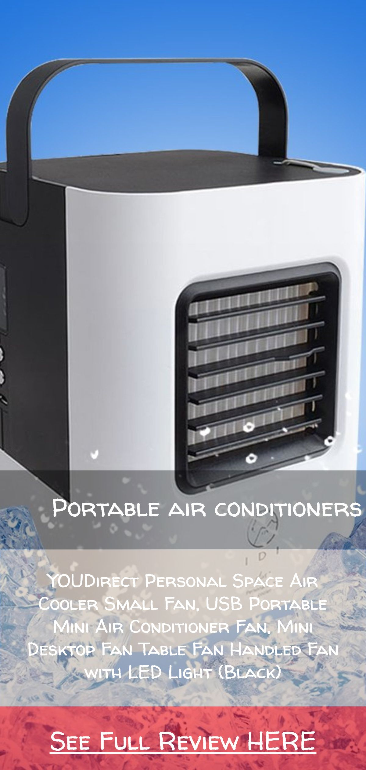 For The Car Camping And Small Places Portable Air Conditioners Youdirect Personal Space Air Cooler Small F Air Cooler Air Cooler Fan Evaporative Air Cooler