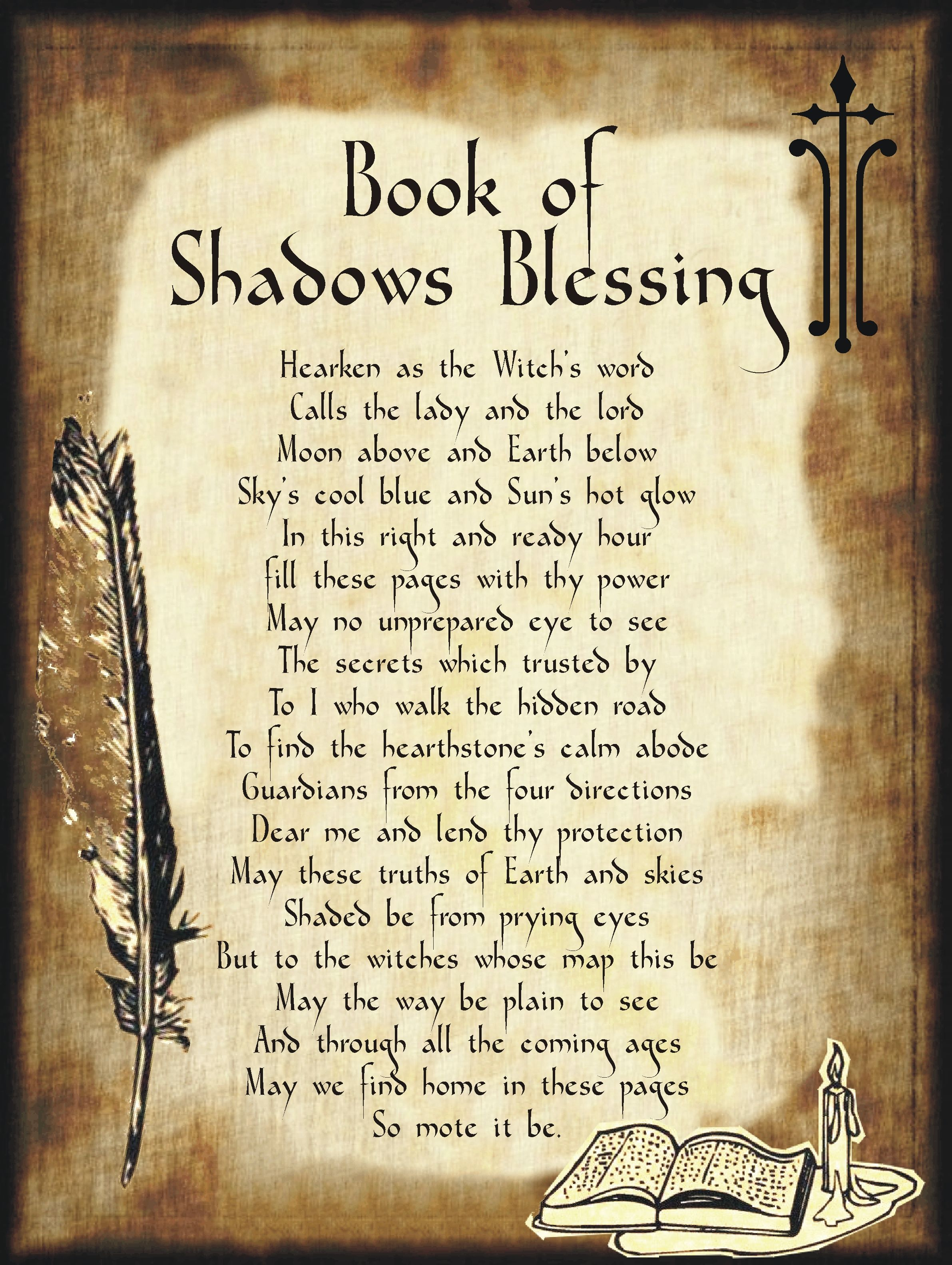 Book Of Shadows Blessing For Homemade Halloween Spell Book Halloween Spell Book Book Of Shadows Wiccan Spell Book