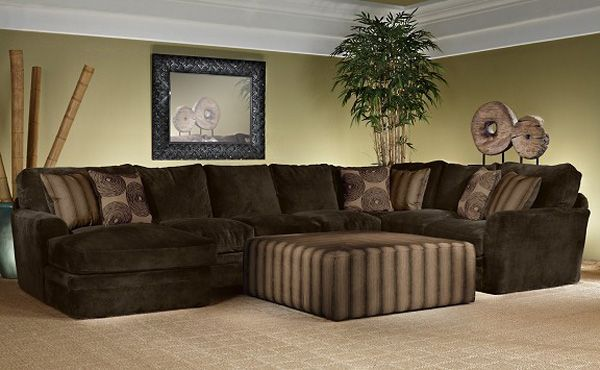 Slip Into Comfort And Relaxation With The NEW Barbados Brown Microfiber 4 Piece Living Room SectionalMy Favorite Is Over Sized Fabric Ottoman