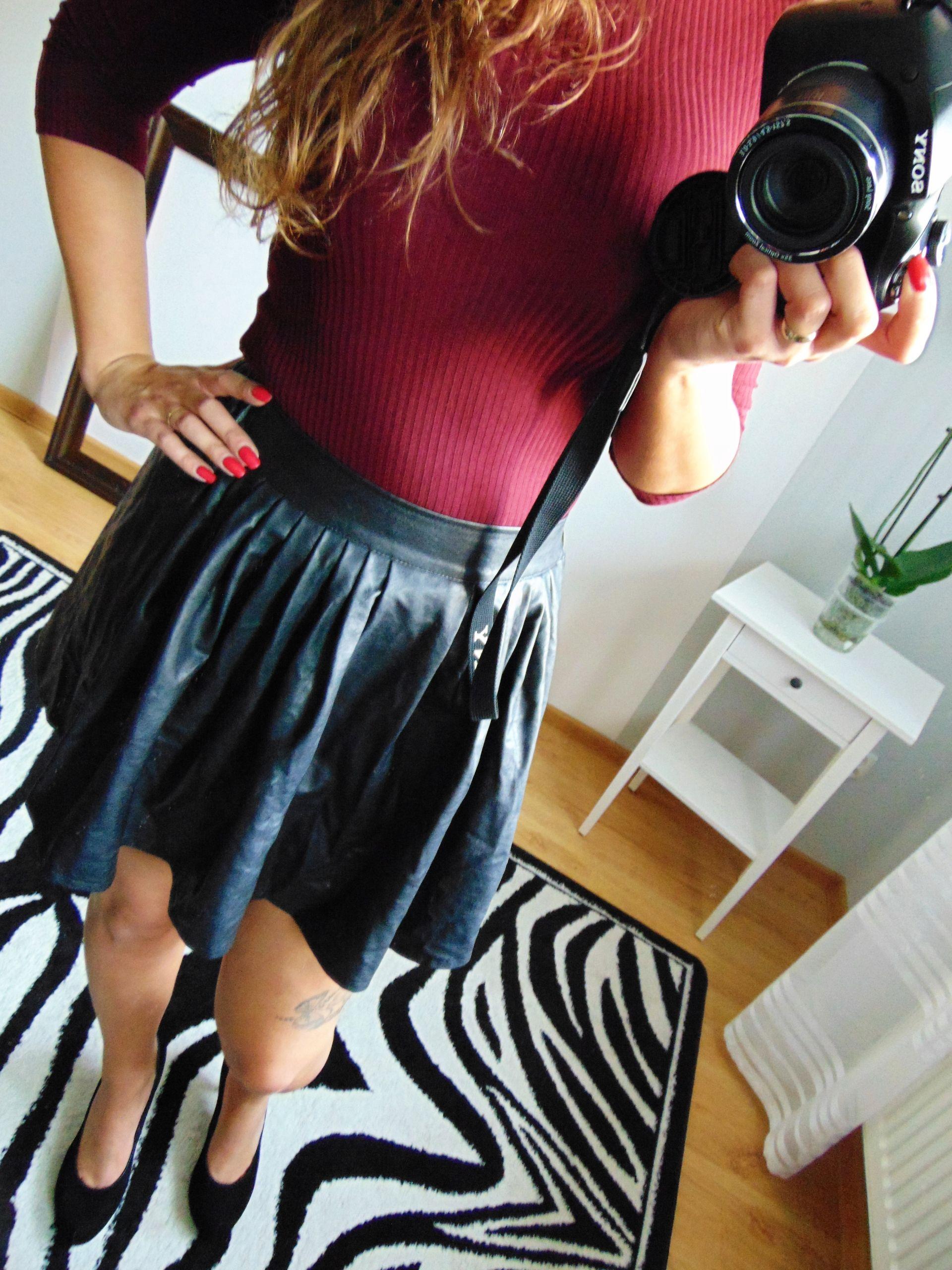 Skorzana Rozkloszowana Spodnica 38 M 7606807276 Oficjalne Archiwum Allegro Fashion Skirts Skater Skirt