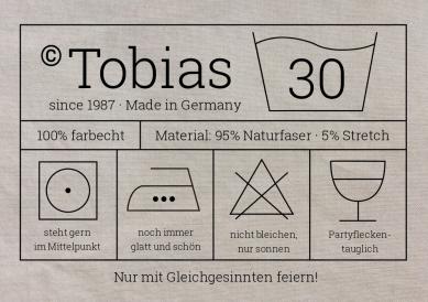 Witzige Waschanleitung Einladungskarte Mit Etikett Und Pflegesymbolen Zur 30.  Geburtstags Party