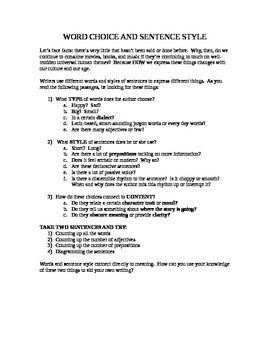 FREE worksheet to emphasize careful word choice. Grades 7-12 ...