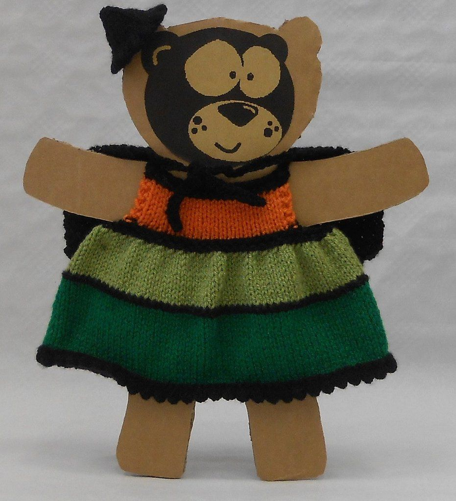Teddy bear witch costume kit with yarn and easy to follow knitting ...