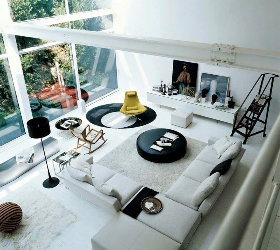 Sehr schön eingerichtetes #Wohnzimmer von B&B Italia Mehr Wohnzimmer ...
