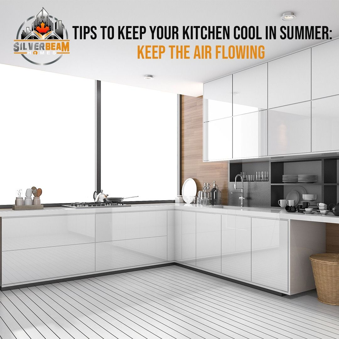 In summer, make the most of cross ventilation. Windows or vents placed on opposite sides of the space give natural breezes a pathway through the structure, circulating air, and promoting passive cooling. Fresh air from opening a window or door probably help cool the room.⠀ #SummerKitchenTips #KitchenTips #KitchenTipsAndTricks #AirVentilation #CrossVentilation #CoolKitchens #CoolKitchensLife #VancouverHomeBuilder #CustomHomesBuilder⠀ #VancouverHousing #Vancouver_Canada #SilverBeamHomes