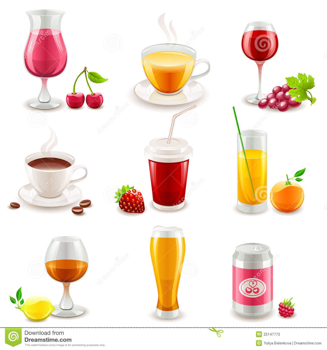 Drink Icons - Download From Over 28 Million High Quality Stock Photos, Images, Vectors. Sign up for FREE today. Image: 25147773