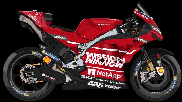 Mission Winnow Ducati Ita Ducati Desmosedici Gp19 04 Andrea Dovizioso Ita 9 Danilo Petrucci Ita Motogp Ducati Racing Bikes