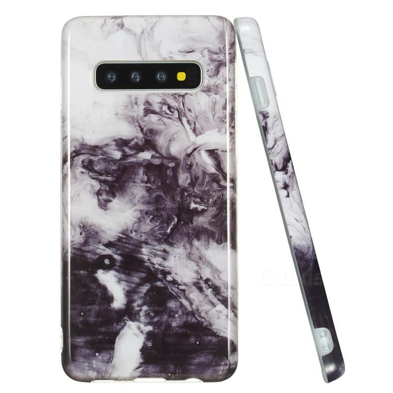 Smoke Ink Painting Marble Clear Bumper Glossy Rubber Silicone Phone Case for Samsung Galaxy S10 (6.1 inch) – Galaxy S10 Cases – Guuds – #case #guuds #samsung #tpu