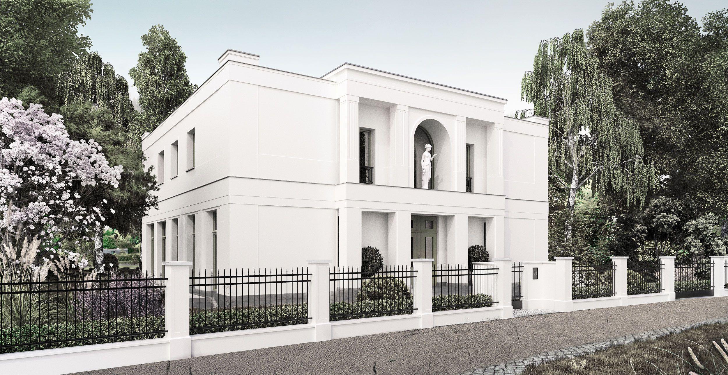 Neubau einer Villa im Klassik-Stil mit Mittelrisalit in Potsdam ...