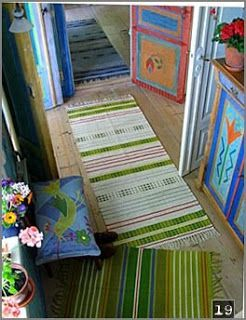 layered rugs and ... COLOR! As if you didn't notice ...