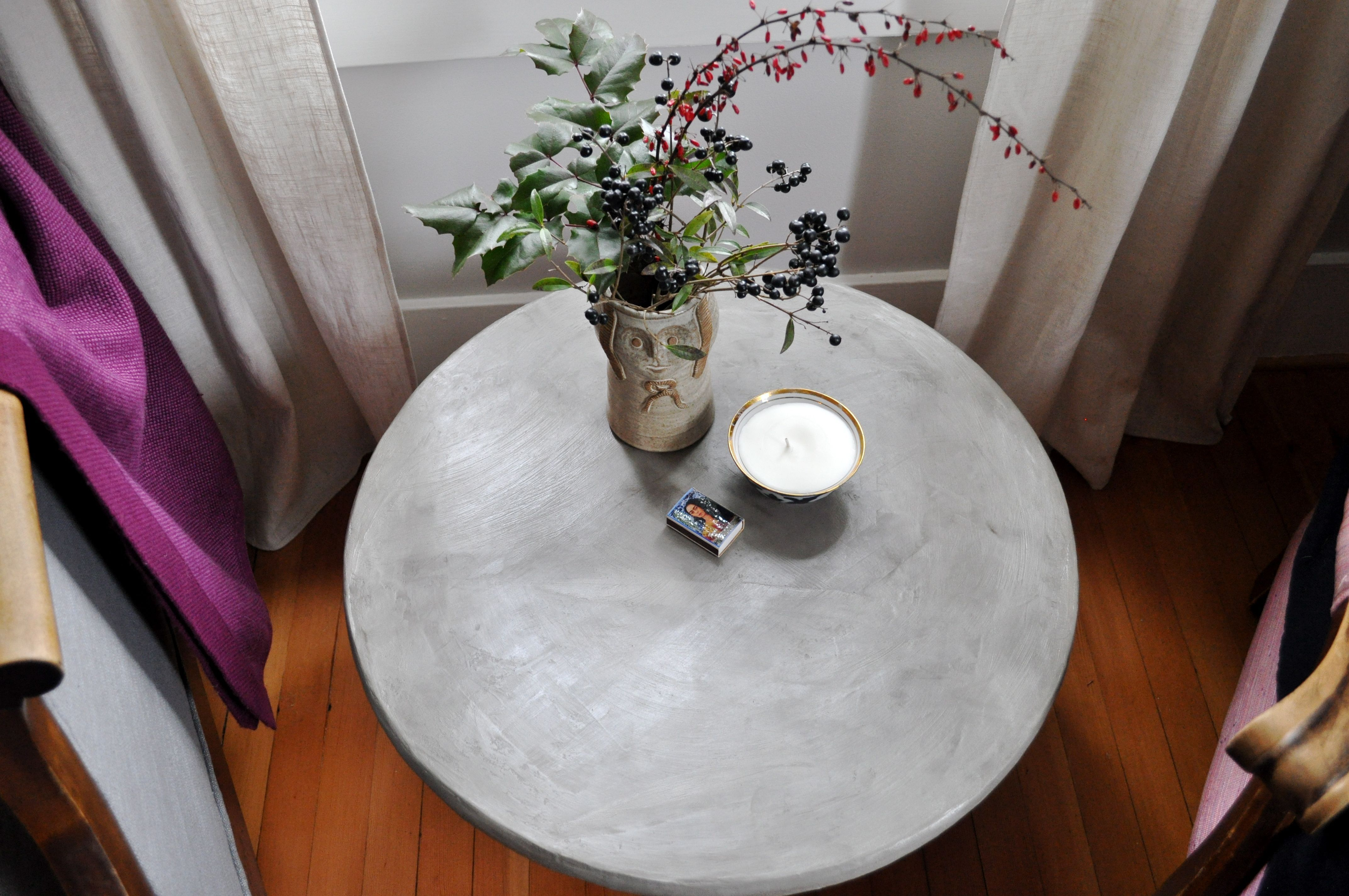 red house west diy concrete pedestal table red house west