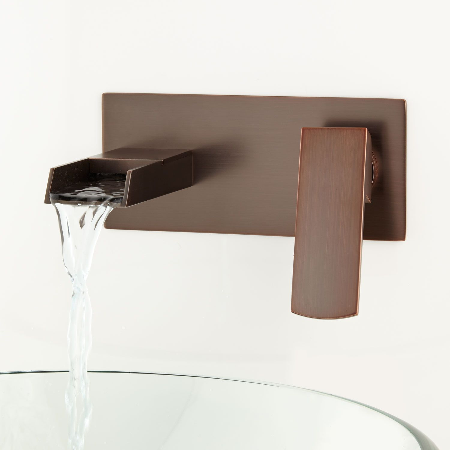 Broeg Wall Mount Waterfall Faucet No Overflow Oil Rubbed