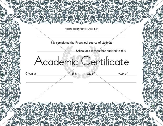 most worthy academic certificate templates