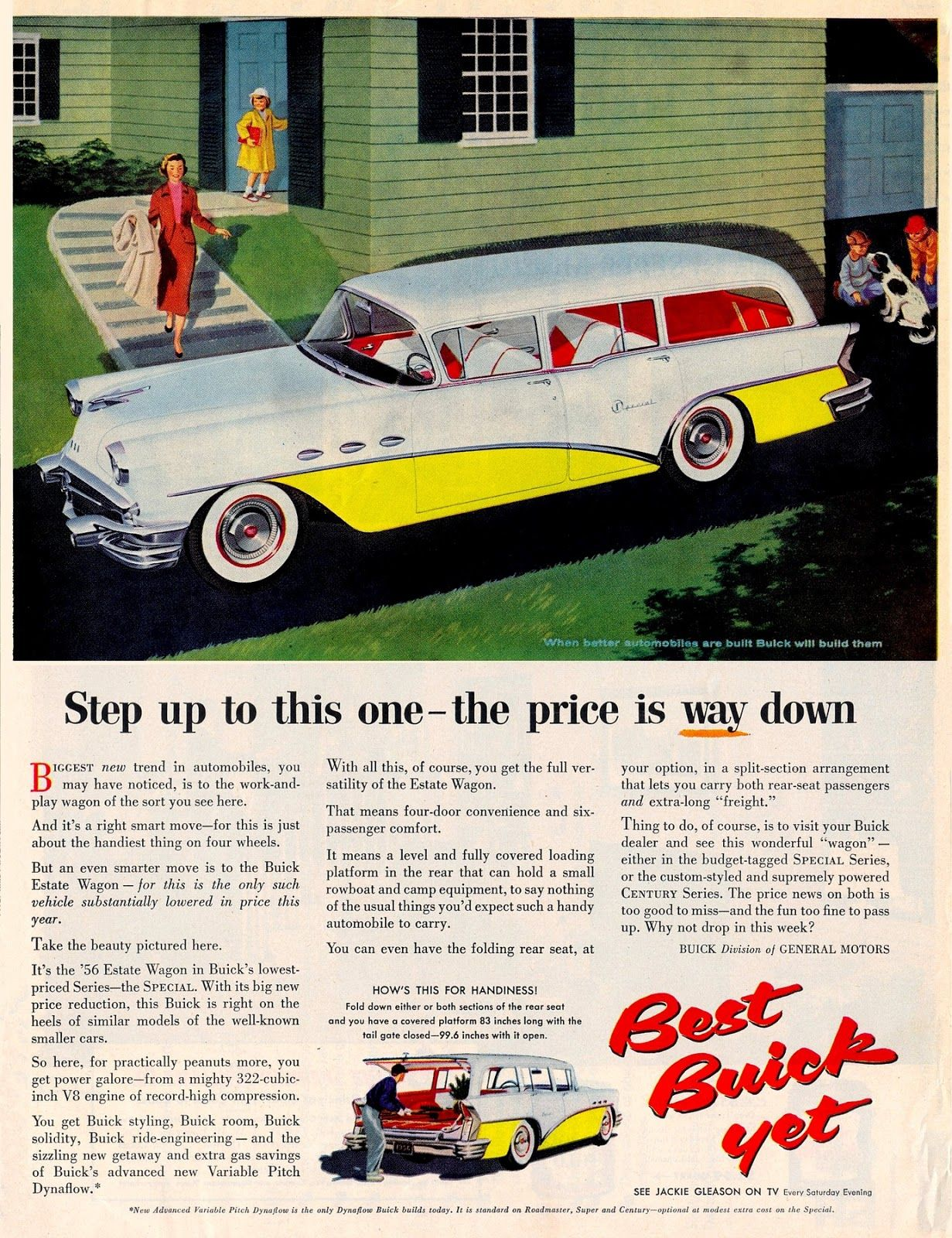 1956 buick special 6 passenger 4 door estate wagon ad