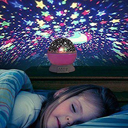 Liqoo® Sternenhimmel Projektor Sternenlicht Nachtlicht 360 Grad 4 - lampe für schlafzimmer